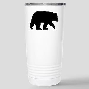 Black Bear Stainless Steel Travel Mug