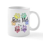 Mug - Bite Me I'm A Vet Tech Pawprints