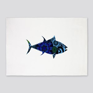 AMAZINGLY BLUE 5'x7'Area Rug