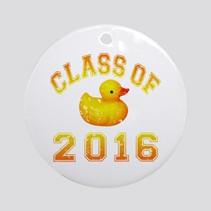 Class of 2016 Duckie Ornament (Round)