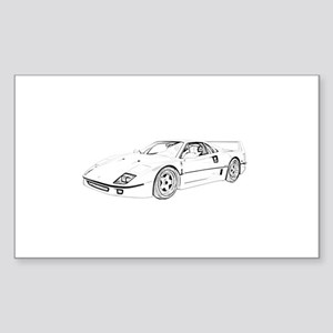 Ferrari F40 Twin Turbo Sticker (Rectangle)