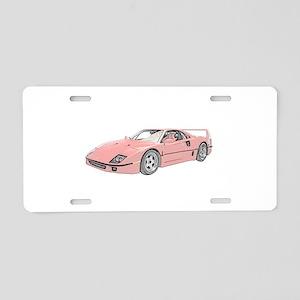 Ferrari F40 Twin Turbo Aluminum License Plate