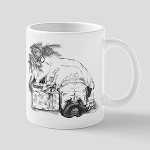 Merry Mastiff Christmas-no te Mug