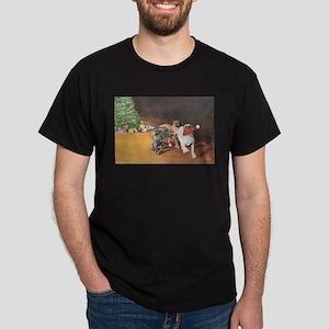 Mastiff Puppy Christmas Dark T-Shirt