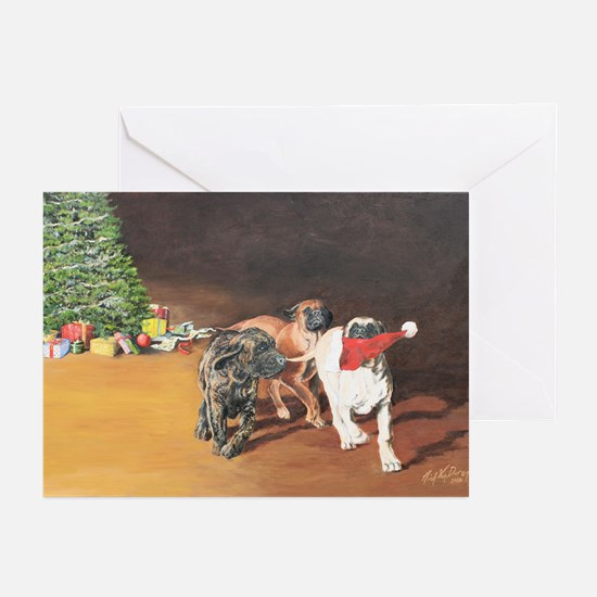 Mastiff Puppy Christmas Greeting Cards (Pk of 10)
