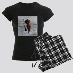 Christmas Mastiff Puppy Women's Dark Pajamas