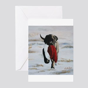 Christmas Mastiff Puppy Greeting Cards (Pk of 10)