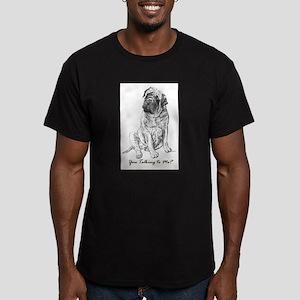 Mastiff You Talkin To Me? Men's Fitted T-Shirt (da