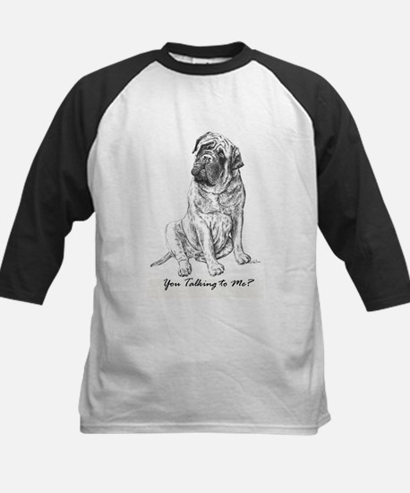 Mastiff You Talkin To Me? Kids Baseball Jersey