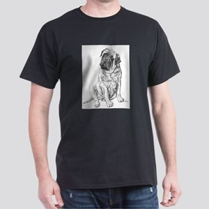 Mastiff Sitting Dark T-Shirt