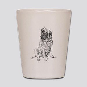 Mastiff Sitting Shot Glass