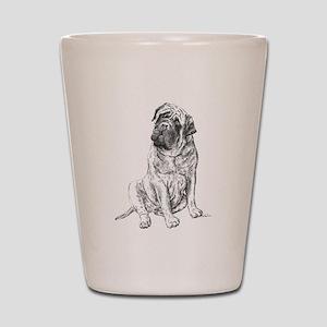 Mastiff Sitting Shot Glass