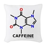 Caffeine Molecularshirts.com Woven Throw Pillow