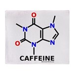 Caffeine molecularshirts.com Throw Blanket