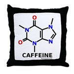 Caffeine molecularshirts.com Throw Pillow