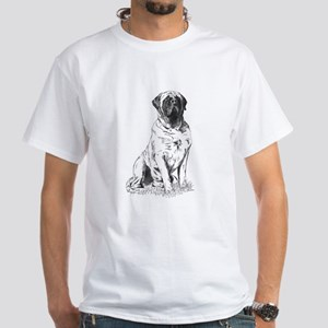 Mastiff Nobility White T-Shirt