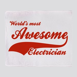 World's Most Awesome Electrician Throw Blanket