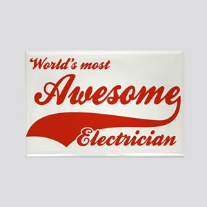World's Most Awesome Electrician Rectangle Magnet