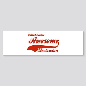 World's Most Awesome Electrician Sticker (Bumper)