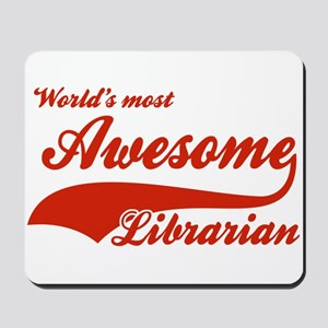 World's Most Awesome Librarian Mousepad