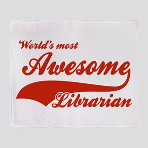 World's Most Awesome Librarian Throw Blanket