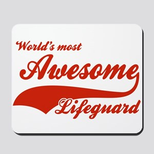 World's Most Awesome Life guard Mousepad
