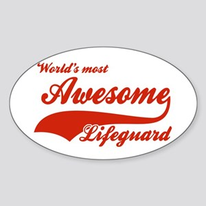 World's Most Awesome Life guard Sticker (Oval)