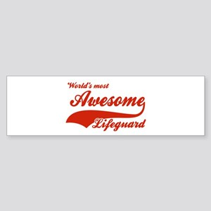 World's Most Awesome Life guard Sticker (Bumper)