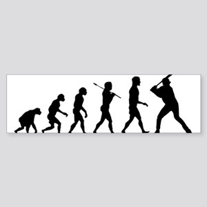 Baseball Evolution Sticker (Bumper)