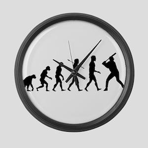 Baseball Evolution Large Wall Clock