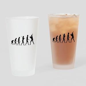 Baseball Evolution Drinking Glass