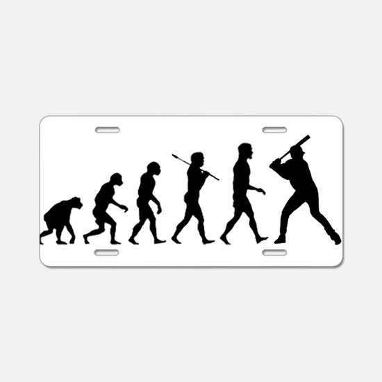 Baseball Evolution Aluminum License Plate