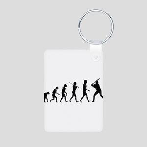 Baseball Evolution Aluminum Photo Keychain