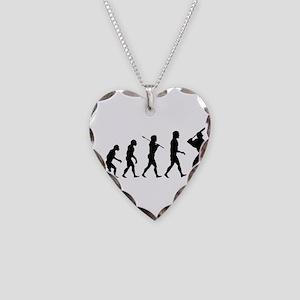 Baseball Evolution Necklace Heart Charm