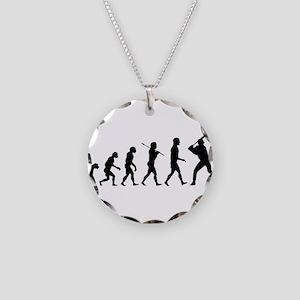 Baseball Evolution Necklace Circle Charm