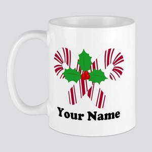 Personalized Candy Canes Mug