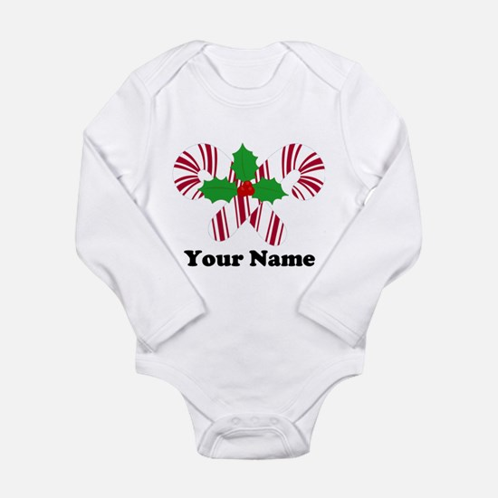 Personalized Candy Canes Onesie Romper Suit