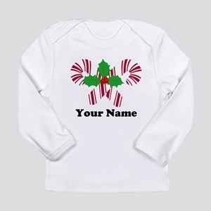 Personalized Candy Canes Long Sleeve Infant T-Shir