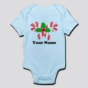 Personalized Candy Canes Infant Bodysuit
