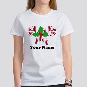 Personalized Candy Canes Women's T-Shirt