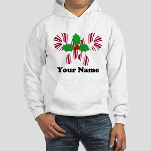 Personalized Candy Canes Hooded Sweatshirt