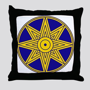 Ishtar Star Icon Throw Pillow