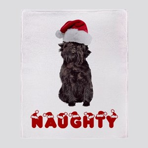 Naughty Affenpinscher Throw Blanket