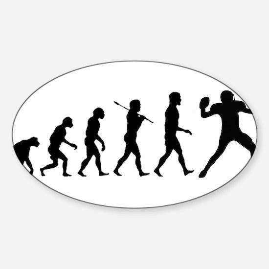 Quarterback Evolution of Foot Sticker (Oval)