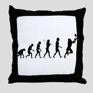 Evolution of Football Throw Pillow