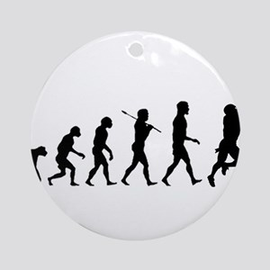 Evolution of Football Ornament (Round)