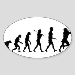 Evolution of Football Sticker (Oval)