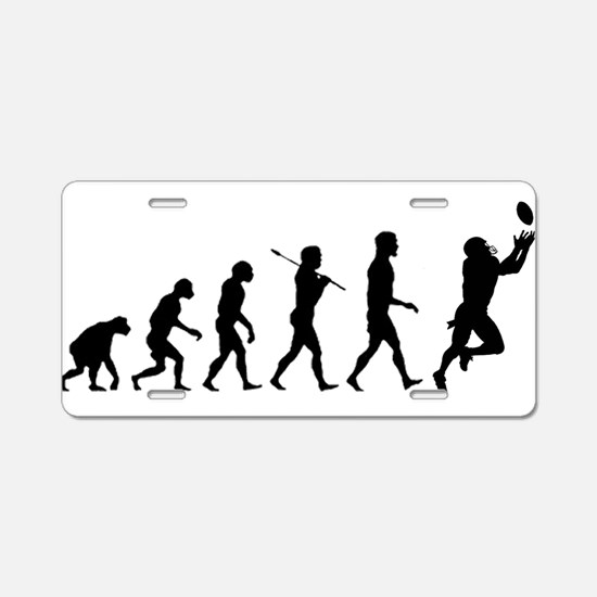 Evolution of Football Aluminum License Plate