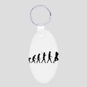 Evolution of Football Aluminum Oval Keychain