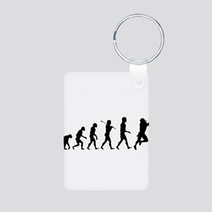 Evolution of Football Aluminum Photo Keychain
